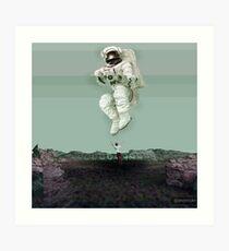 Spaceman_Glitch Art Print