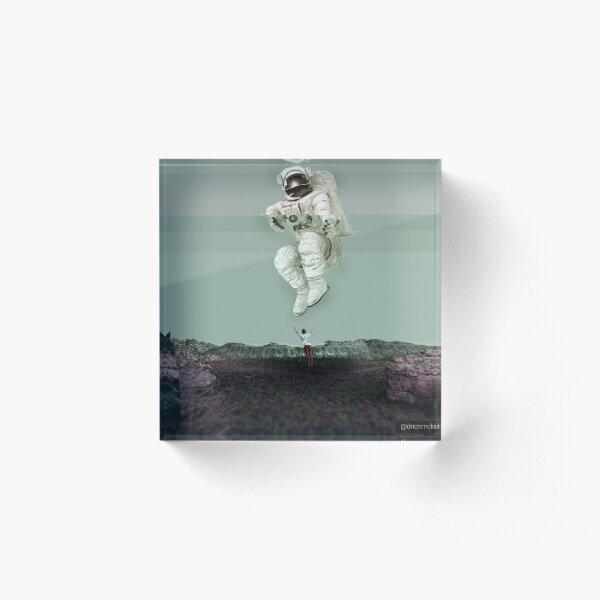 Spaceman_Glitch Acrylic Block