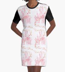 Roségold T-Shirt Kleid