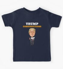 President Trump Constructions Kids Tee