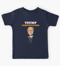 President Trump Constructions Kids Tee