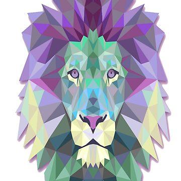 Polygonal Lion Head T-Shirt by salesramalho