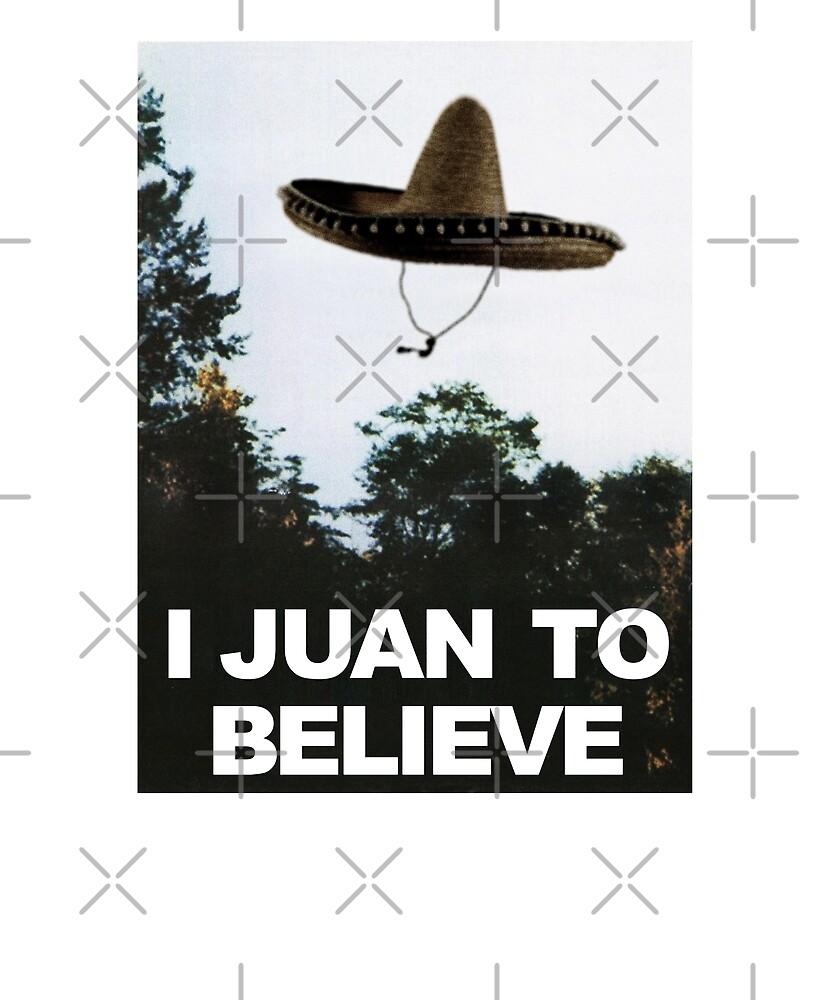 I Juan To Believe Cinco De Mayo Funny UFO Fox Mulder X-Files