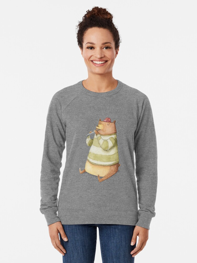 Alternate view of Happy Bear Lightweight Sweatshirt