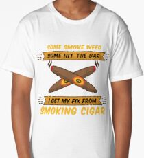 Some Smoke Weed Some Hit the Bar   Funny Cigar Gift   Cigar Gift For Men   Cigar Gift For Him   Cigar Gift for Dad   Unique Cigar Gifts   Cigar Shirt   Birthday Cigar Gift   Cigar Lovers  Long T-Shirt