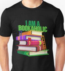 ich bin ein Buchsüchtiger | Buchlesehemd | Bücherwurm Geschenke | Buchliebhaber T-shirt | Buchliebhaber Geschenk | Geschenk für Booknerd | Buch Shirt | Autorenhemd | Schriftsteller Geschenk Slim Fit T-Shirt