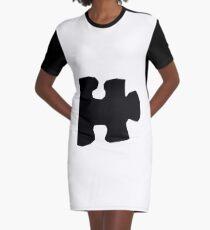 Puzzle Piece Graphic T-Shirt Dress