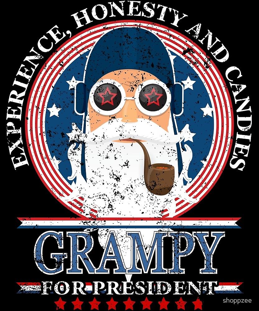 Grampy For President Grandpa Tshirt Grandpa Gifts by shoppzee