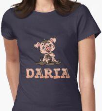 Daria Piggy Women's Fitted T-Shirt