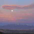 Twilight Moon over Capitol Reef by Robert C Richmond