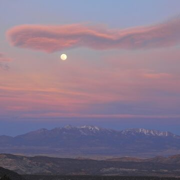 Twilight Moon over Capitol Reef by LumenLux