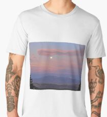 Twilight Moon over Capitol Reef Men's Premium T-Shirt