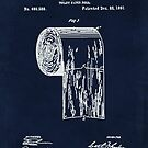 Antique toilet paper roll blueprint patent illustration  by Glimmersmith