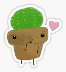 Cactus Blowing a Kiss! Sticker