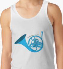 Blaues französisches Horn Tank Top
