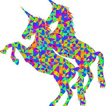 Psychedlic Unicorns by FreedomMuse