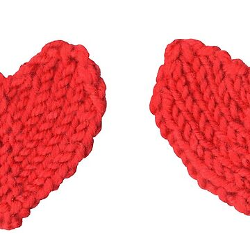 Red Love Hearts in a Row by KeksWorkroom