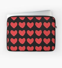 Red Love Hearts in a Row Laptop Sleeve