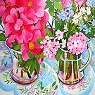 Camelia still life by marlene veronique holdsworth