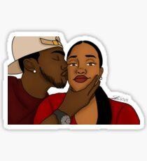Kissy Face Sticker