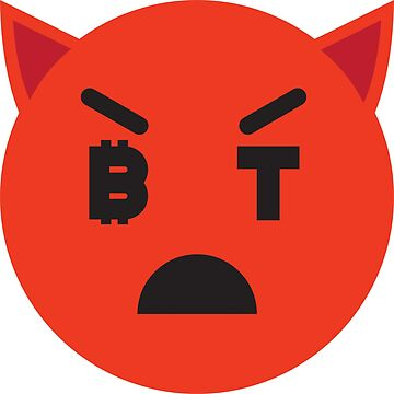 Bitcoin Angry Devil Smiley by Bitcoin-Smiley