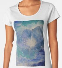 Blue Flower  Women's Premium T-Shirt