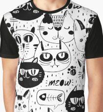 Cats Cats Cats Cats Cats Graphic T-Shirt