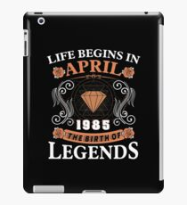 April 1985 The Birth Of Legends iPad Case/Skin