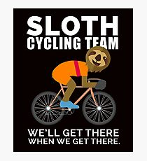 Sloth Cycling Team Shirt - Gift Photographic Print