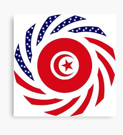 Tunisian American Multinational Patriot Flag Series Canvas Print