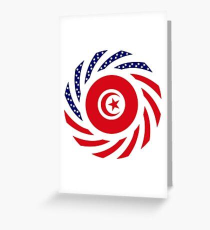 Tunisian American Multinational Patriot Flag Series Greeting Card
