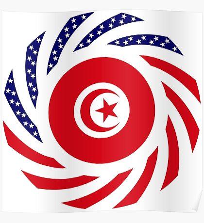 Tunisian American Multinational Patriot Flag Series Poster