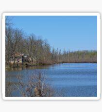 Mississippi River stilt house ghost town Sticker