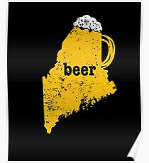 Home Brew Beer Pong Maine Funny Beer Apparel Craft Beer Poster
