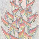 Heliconia Rostrata ExoticTropicaL Flowers Floral Art by clipsocallipso