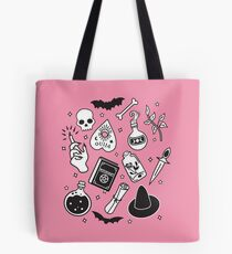 Witchy Essence Pink Tote Bag