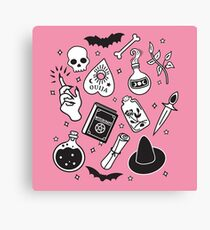 Witchy Essence Pink Canvas Print