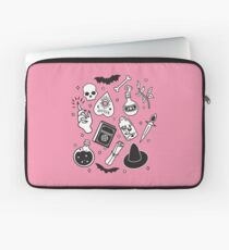 Witchy Essence Pink Laptop Sleeve