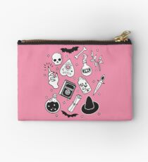 Witchy Essence Pink Zipper Pouch