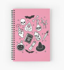 Witchy Essence Pink Spiral Notebook