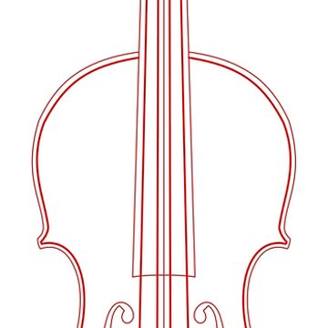 Red Violin wireframe by AdiDsgn