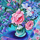 Rose still life by marlene veronique holdsworth