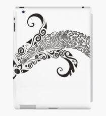 Banana Drawing Black iPad Case/Skin