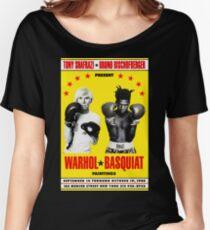 Basquiat Warhol Poster Women's Relaxed Fit T-Shirt