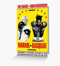 Basquiat Warhol Poster Greeting Card