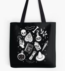 Witchy Essence Black Tote Bag