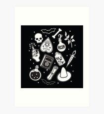 Witchy Essence Black Art Print