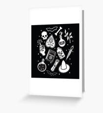 Tarjeta de felicitación Witchy Essence Black