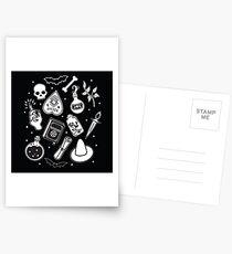 Witchy Essence Black Postcards