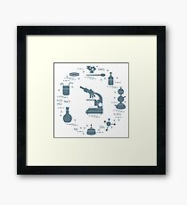 Chemistry scientific, education elements. Framed Print
